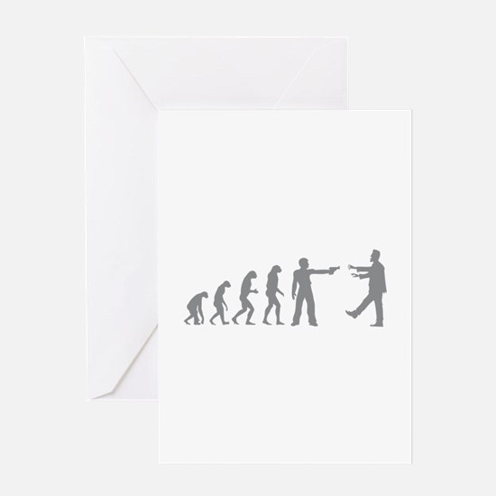 Evolution of man vs zombie Greeting Card