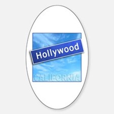 Hollywood Street Sign Oval Decal