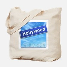 Hollywood Street Sign Tote Bag