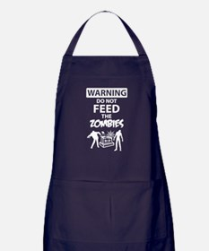 Warning do not feed the zombies Apron (dark)