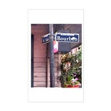 Bourbon Street Sign Rectangle Decal