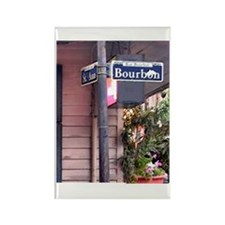 Bourbon Street Sign Rectangle Magnet