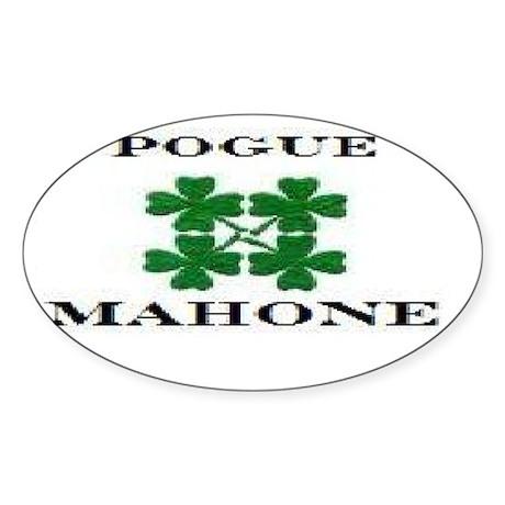 Pogue Mahone Oval Sticker
