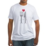 I Love Eating! Fitted T-Shirt