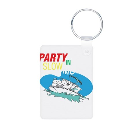 Out here in the open Aluminum Photo Keychain