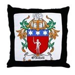 O'Nihell Coat of Arms Throw Pillow