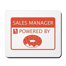 Sales Manager Powered by Doughnuts Mousepad