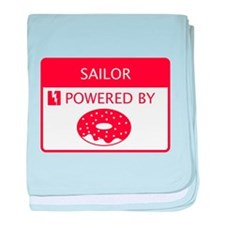 Sailor Powered by Doughnuts baby blanket