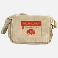 Rugby Coach Powered by Doughnuts Messenger Bag