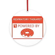 Respiratory Therapist Powered by Doughnuts Ornamen
