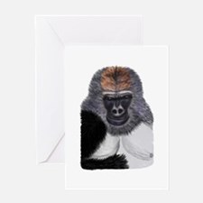 African Mountain Gorilla Greeting Card