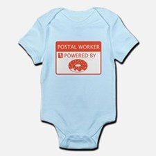 Postal Worker Powered by Doughnuts Infant Bodysuit