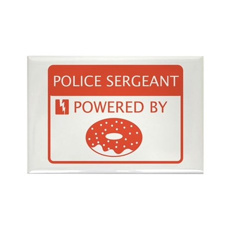 Police Sergeant Rectangle Magnet