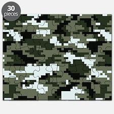 8 Bit Pixel Urban Camouflage Puzzle