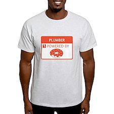 Plumber Powered by Doughnuts T-Shirt