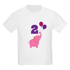 2nd Birthday Elephant T-Shirt