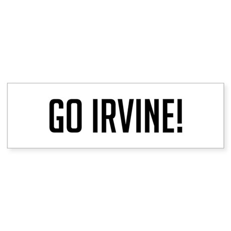 Go Irvine Bumper Sticker