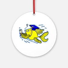 Graduation Fish Graduate Ornament (Round)
