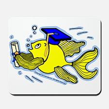 Graduation Fish Graduate Mousepad