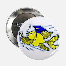 "Graduation Fish Graduate 2.25"" Button"