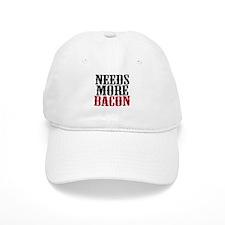 Needs More Bacon Baseball Cap