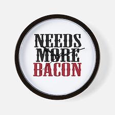 Needs More Bacon Wall Clock