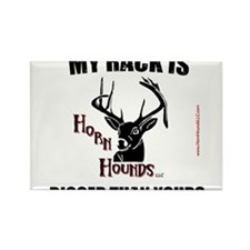 Horn Hounds Rectangle Magnet