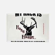 Horn Hounds Rectangle Magnet