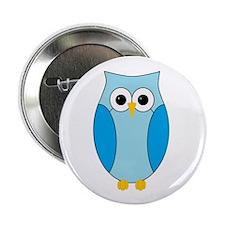 """Blue Hoot Owl 2.25"""" Button"""