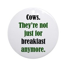 Cows & Beef Breakfast Ornament (Round)