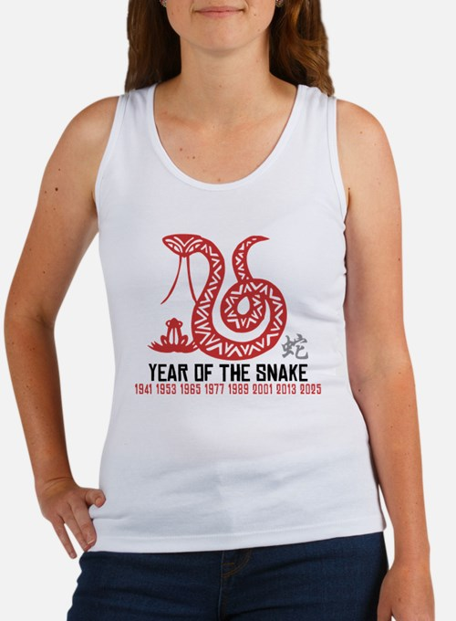 Chinese Paper Cut Year of The Snake Women's Tank T