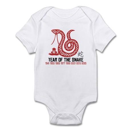 Chinese Paper Cut Year of The Snake Infant Bodysui