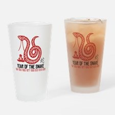 Chinese Paper Cut Year of The Snake Drinking Glass