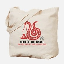 Chinese Paper Cut Year of The Snake Tote Bag