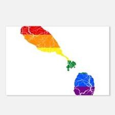 Saint Kitts And Nevis Rainbow Pride Flag And Map P