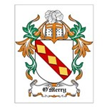 O'Merry Coat of Arms Small Poster