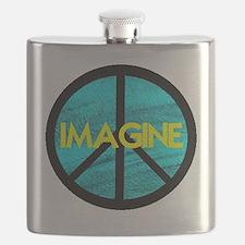 IMAGINE with PEACE SYMBOL.psd Flask