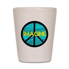 IMAGINE with PEACE SYMBOL.psd Shot Glass