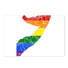 Somalia Rainbow Pride Flag And Map Postcards (Pack