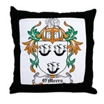 O'Meers Coat of Arms Throw Pillow