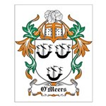 O'Meers Coat of Arms Small Poster