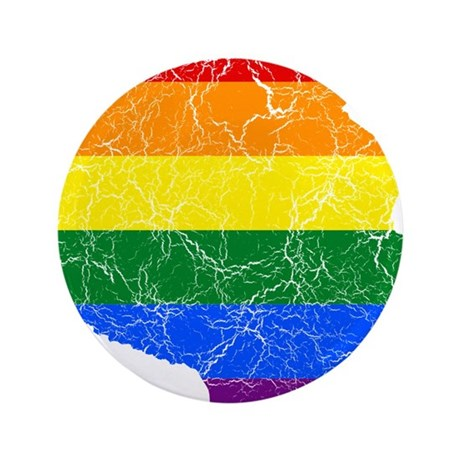 "Tanzania Rainbow Pride Flag And Map 3.5"" Button (1"