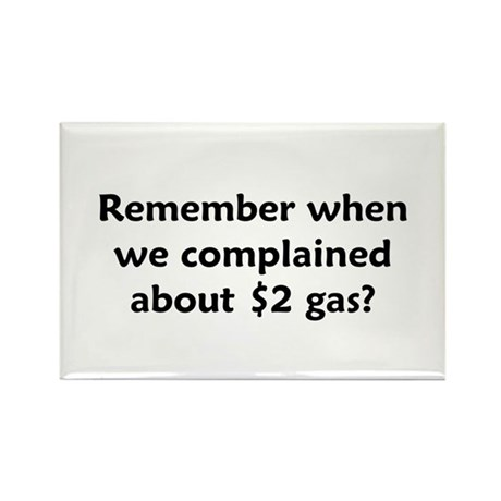 Remember $2 Gas Rectangle Magnet (100 pack)