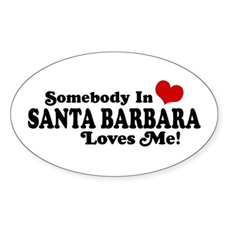 Santa Barbara California Sticker (Oval)