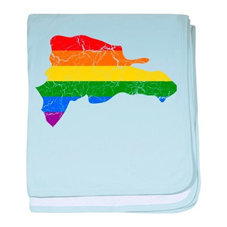 Dominican Republic Rainbow Pride Flag And Map baby