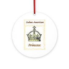 Cuban-American Princess Ornament (Round)