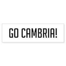 Go Cambria Bumper Bumper Sticker