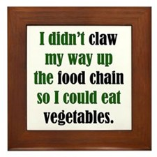 Vegetable Claw Framed Tile