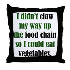 Vegetable Claw Throw Pillow