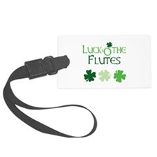 Luck 'O the Flutes Luggage Tag